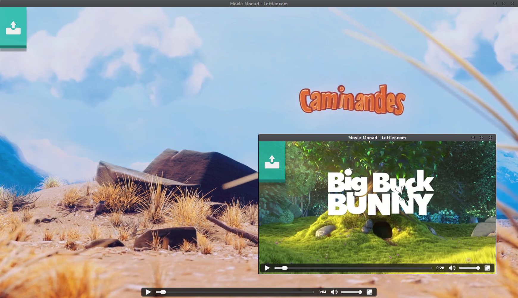 Caminandes and Big Buck Bunny from Blender Cloud.