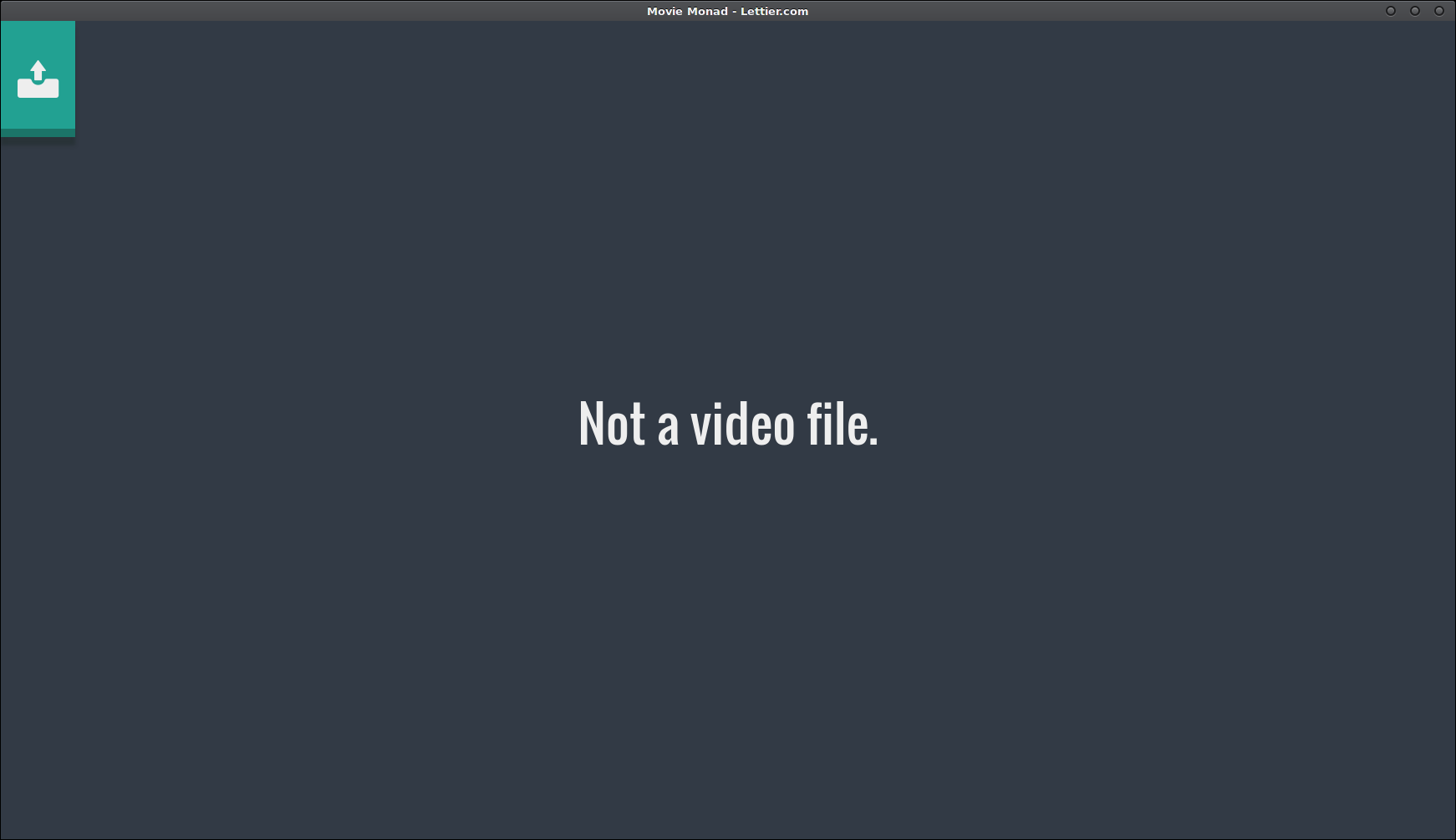 Not a video file.